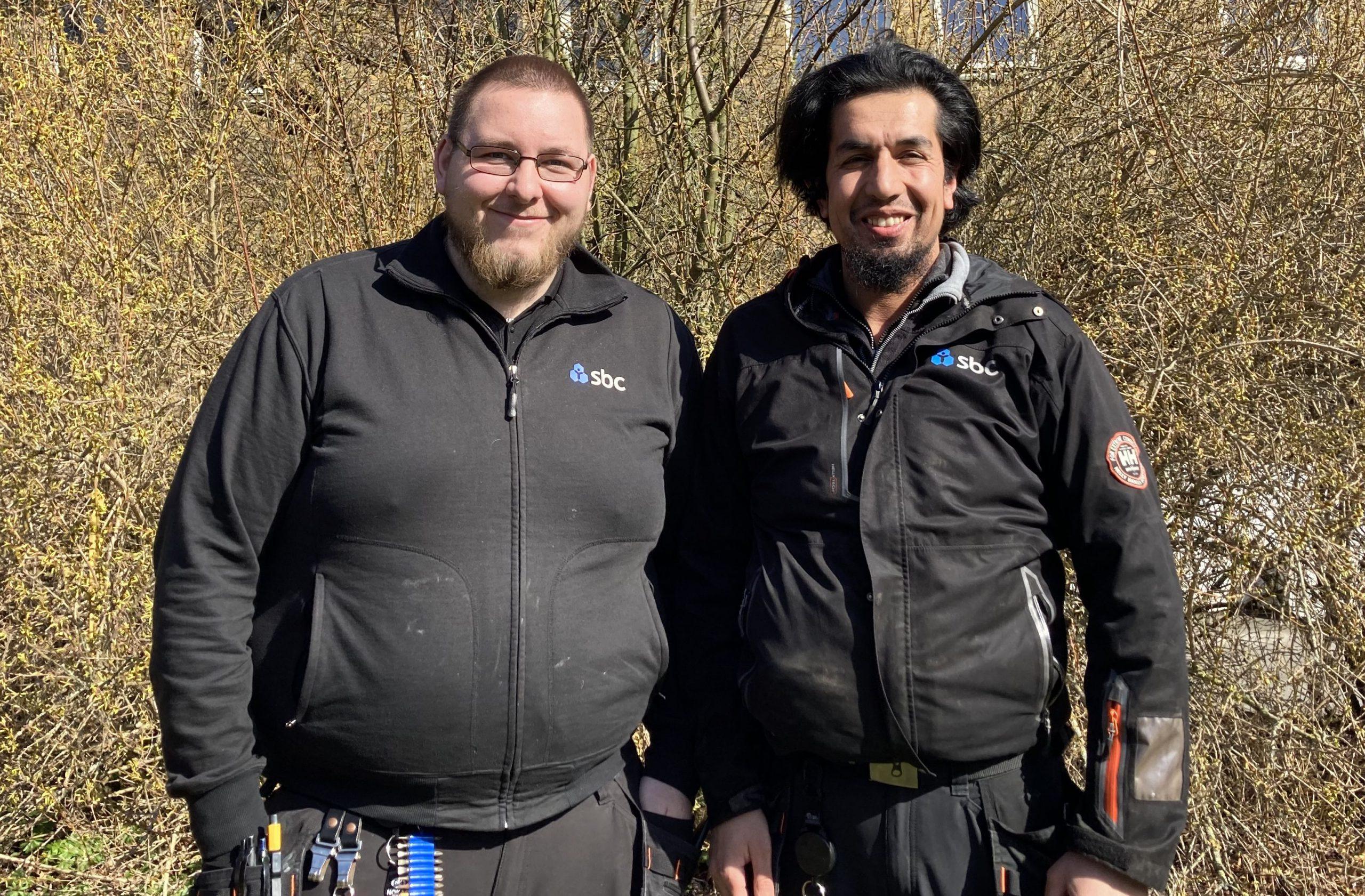 Föreningens vaktmästare Andreas och trädgårdsansvarige Hasib